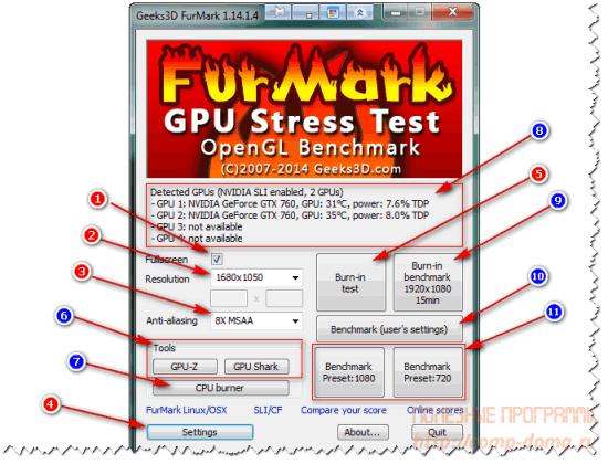 FurMark v1.14.1.4.