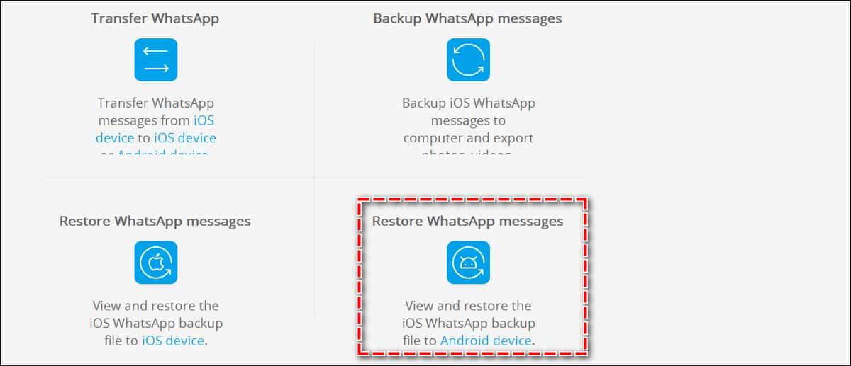 восстановление переписки ватсап из файла