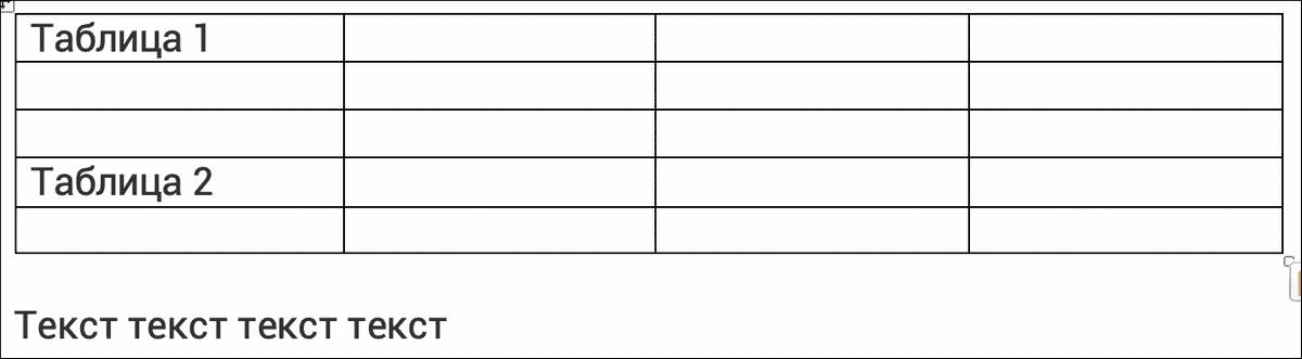 результат соединения таблиц путем вырезания и вставки