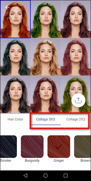 коллаж из разных цветов волос