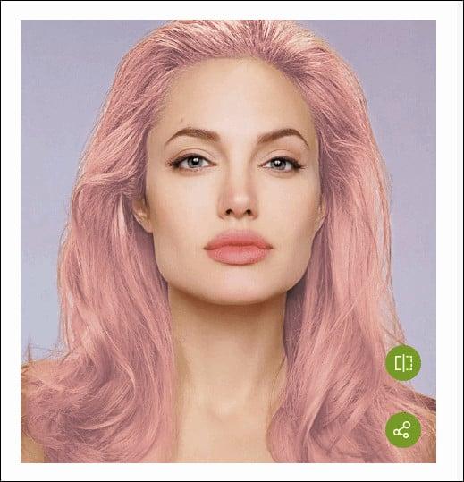 результат смены цвета волос в Garnier