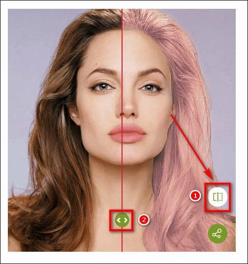 снимок до и после смены цвета волос
