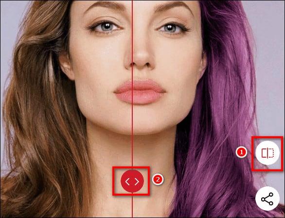 сравнение цвета волос