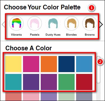выбор цвета в Matrix