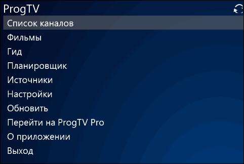 пункт список каналов