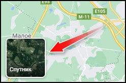 перевод карты в режим спутник