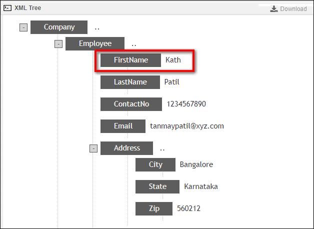 окно XML Tree