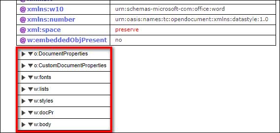 список главных веток файла