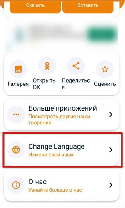 изменение языка в Ok.Ru Downloader