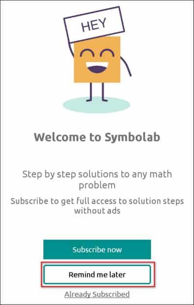 welcom to Symbolab