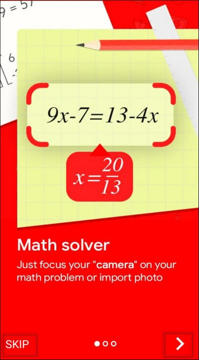 запуск Photo Math Solver