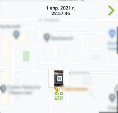 QR-код на карте