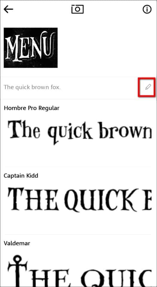 список похожих шрифтов