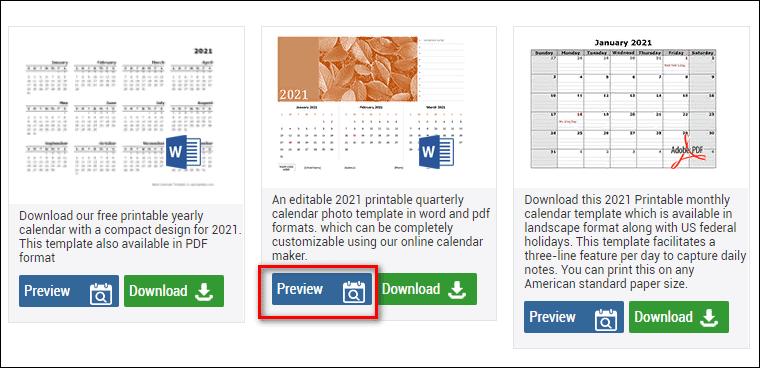 Preview в Calendarlabs