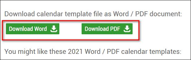 скачивание шаблона календаря в Word или PDF